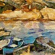 Sea Front On Mediterranean Sea Art Print