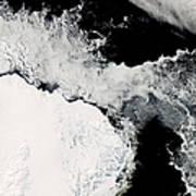 Sea Ice In The Southern Ocean Art Print