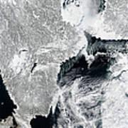 Sea Ice Lines The Coasts Of Sweden Art Print