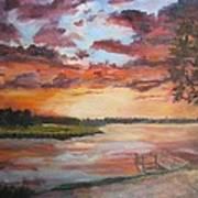 Sea Island Sunset Art Print