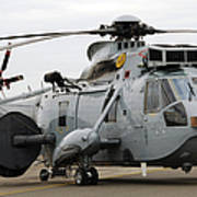 Sea King Helicopter Of The Royal Navy Art Print by Luc De Jaeger