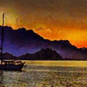 Sea Of Cortez Sunset In Baja Art Print