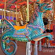 Sea Serpent Carousel Ride Art Print