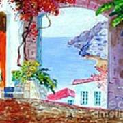 Sea View Art Print by Kostas Dendrinos