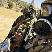 Seabees Conduct Decontamination Wash Art Print