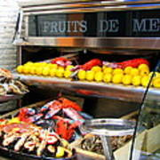 Seafood Market In Nice Art Print