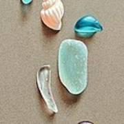 Seaglass Pieces Art Print