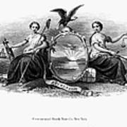 Seal Of New York, 1870 Art Print