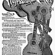Sears Ad - Guitars 1902 Art Print