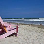Seas The Chair  Art Print