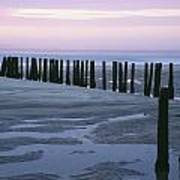 Seascape At Dusk With Pillars In Art Print