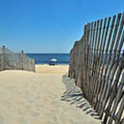 seashore 100 Cape Henlopen Beach walkway Art Print