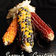 Season's Greetings- Thanksgiving Card No. 1 Print by Luke Moore