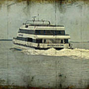 Seastreak Catamaran - Ferry From Atlantic Highlands To Nyc Art Print