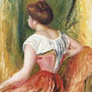 Seated Young Woman Art Print by Pierre Auguste Renoir
