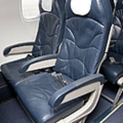 Seats On An Airliner Art Print