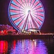 Seattle Great Wheel 2 Art Print