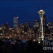 Seattle In The Evening Art Print by Alan Clifford