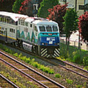 Seattle Sounder Train Art Print