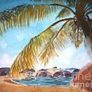 Secluded Beach Art Print