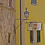 Secluded Restaurant Of Tuscany Art Print
