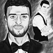 Secret Agent Justin Timberlake Art Print