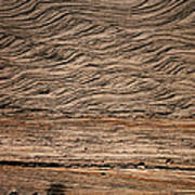 Sedimentary Structures In Sand Beds Art Print