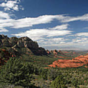 Sedona Arizona Vista Art Print