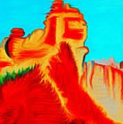 Sedona Hills - Fire At Sunset - Arizona Art Print