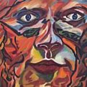 Self Portrait - Map Of Life Art Print