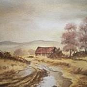 Selo Poslije Kise Art Print