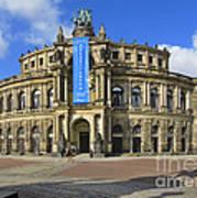 Semper Opera House - Semperoper Dresden Art Print by Christine Till