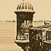 Sentry Tower Castillo San Felipe Del Morro Fortress San Juan Puerto Rico Rustic Art Print by Shawn O'Brien