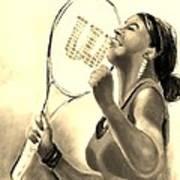 Serena In Sepia Art Print