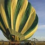 Serengeti Hot Air Baloon Inflating Art Print