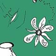 Serenity In Green Art Print