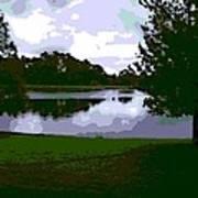 Serenity Lake 4 Art Print