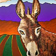Serious Donkey Art Print