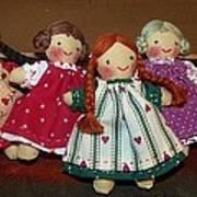 Seven Handmade Dolls Art Print