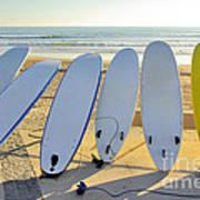 Seven Surfboards Art Print