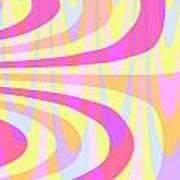 Seventies Swirls Art Print