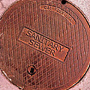 Sewer Cover Art Print