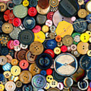 Sewing - Buttons - Bunch Of Buttons Art Print
