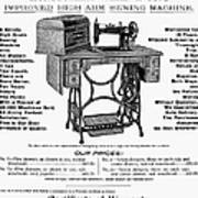 Sewing Machine Ad, 1895 Art Print