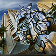 Sf Hyatt Outside Art Print