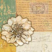 Shabby Chic Floral 1 Print by Debbie DeWitt