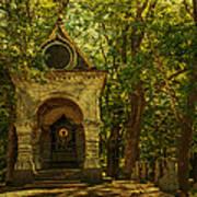 Shaded Chapel. Golden Green Series Art Print