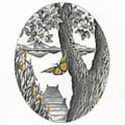 Shades Of Magnolia Art Print