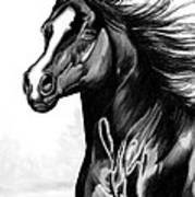 Shading Of A Horse In Bic Pen Art Print