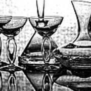 Shadow Of Luxury Glass No.1 Art Print